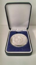 Silver Coin in a Navy Leatherette Box